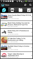Screenshot of Black Friday 2014 Ads App