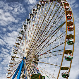 wheel of fortune by Andy Just Andy - City,  Street & Park  Amusement Parks ( wheel, park, amusement, colors, fun )
