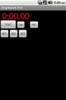 Screenshot of Adv. StopWatch free