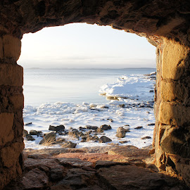 a window by Vladimir Firsov - Buildings & Architecture Architectural Detail ( old street, winter, window, sea, finland, , Earth, Light, Landscapes, Views )