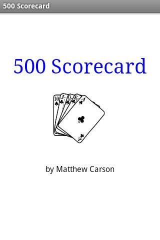 500 Scorecard