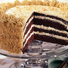 Devil's Food Cake with Brown Sugar Buttercream