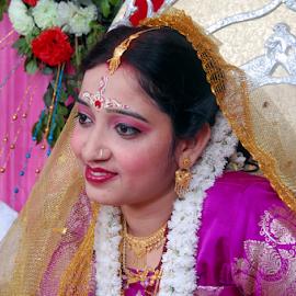 Bride by Anindya Bhattacharjee - Wedding Bride ( purple, pinki, anindya, bride )