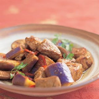 Savory Eggplant Hot Pot with Pork