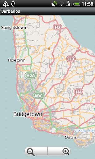 Barbados Street Map