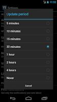 Screenshot of Notifier Widget for Facebook