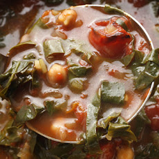 Roasted Tomato, Chickpea, and Swiss Chard Soup Recipe