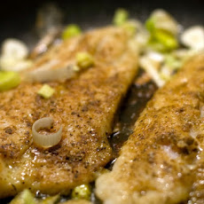 Fish with Creamy Leeks