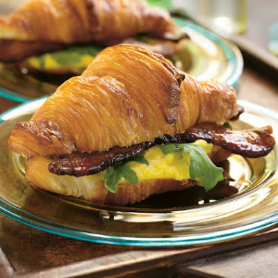 Warm Egg Salad on Croissants