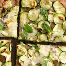 Zucchini, Scallion and Parmesan Pizza
