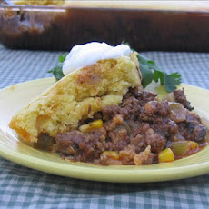Beef Mole Tamale Pie