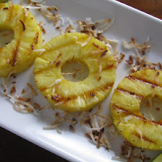 Grilled Pineapple with Toasted Coconut and Lime