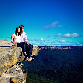 Mountain love by Brad N Sky Thomson - People Couples ( #mountain, #couple, #cuddle, #love, #romance )