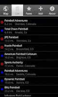 Screenshot of Tippmann Paintball Locator