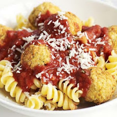 Herby Chickpea Balls With Tomato Sauce