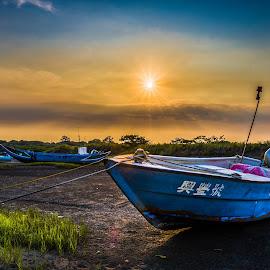sunsets by Gary Lu - Transportation Boats ( sunsets )