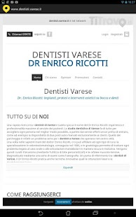 Dentisti Varese - screenshot