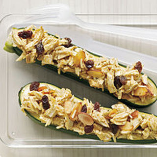 Curried Chicken Zucchini Boats