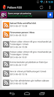 Screenshot of Polisen RSS