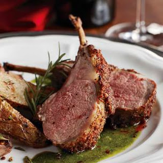 Porcini-Crusted Lamb Chops with Rosemary-Garlic Emulsion