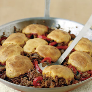Cornbread-and-Beef Skillet Pie
