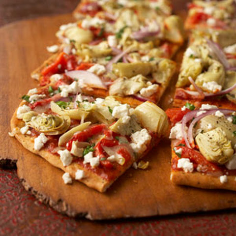 Mediterranean Pepper and Artichoke Pizza