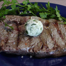 Herbed Butter Rib Eye Steaks