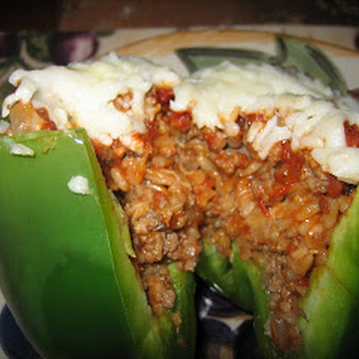 Italian Stuffed Peppers (adapted from Lunch with Lynn)