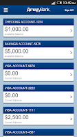 Screenshot of Amegy Business Mobile Banking
