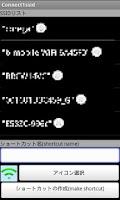 Screenshot of Create SSID(wifi) shortcuts