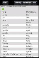 Screenshot of 300 Hawaiian Word Dict & Quiz