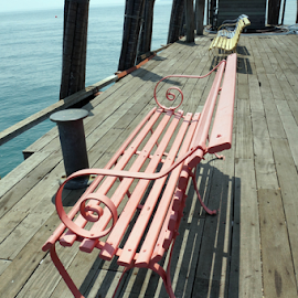 Coloured benches by the jetty (RAWA Island Resort) by Alice Chia - Artistic Objects Furniture ( , Chair, Chairs, Sitting )