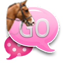 GO SMS - Equestrian Pink icon