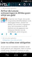 Screenshot of RTL Nieuws mobile