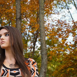 Fall Photo by Ginger Bauer Collins - People Family ( brown eyes, girl, colors, fall, pretty,  )