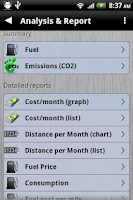 Screenshot of Gas Manager