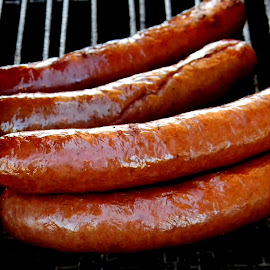 Yummy street sausages by Liz Hahn - Food & Drink Meats & Cheeses