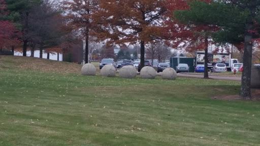 Stone Billiards Sculpture