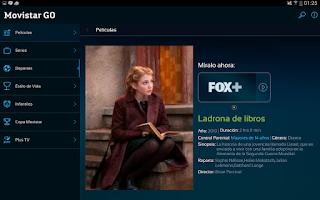 Screenshot of Movistar GO
