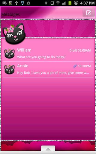 GO SMS - Plum Kitty