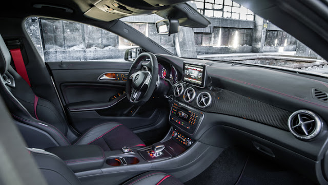 Interior of the Mercedes-Benz CLA45 AMG
