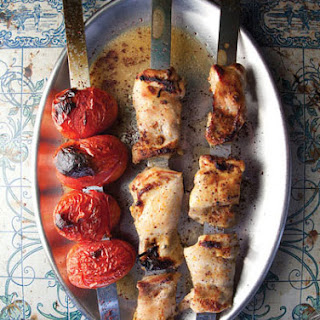 Jujeh Kabab (Spiced Chicken and Tomato Kebabs)
