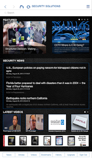 Security Solutions Magazine - screenshot