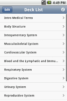 Screenshot of Medical Terminology Flashcards