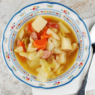 Rustic Irish Potato and Cabbage Soup - for the slow cooker or stove top