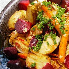 Roasted Vegetables With Horseradish Dressing