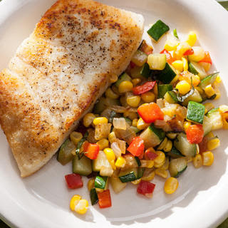 Corn, Bell Pepper, and Zucchini Sauté