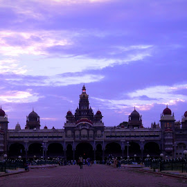 Mysore Palace in Evening. . . . by Shishir Kumar - Buildings & Architecture Statues & Monuments ( monuments, mysore, india, palace, evening )