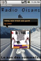 Screenshot of Radio Oisans