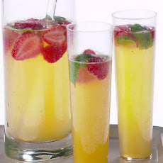 Strawberry, Lemon and Basil Mimosa